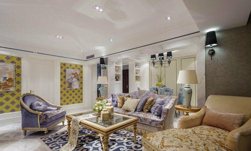 紫色雅致简欧风格客厅装修赏析