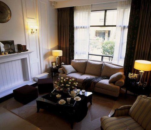 个性雅致时尚简欧白色客厅图片
