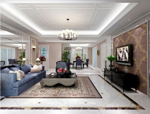 精致简欧优雅白色客厅装饰设计图片