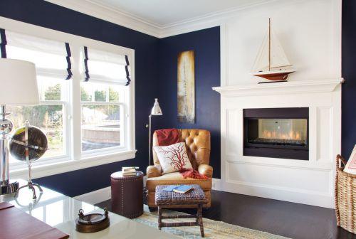 蓝色浪漫简欧风客厅装修案例