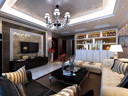 新古典客厅装修案例欣赏