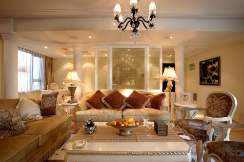 简欧风格米色素雅客厅装修设计