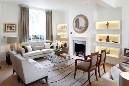 2016白色古典雅致简欧风格客厅图片欣赏