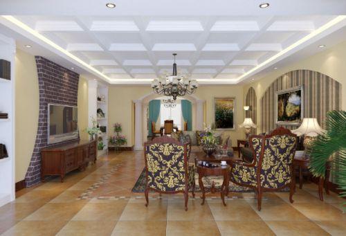 简欧风格客厅装潢设计