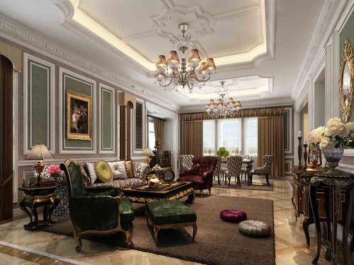 古典欧式风格客厅装潢设计欣赏
