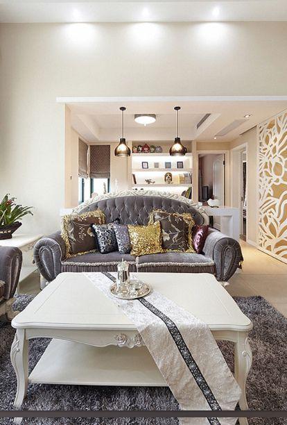 2016简欧风格客厅装饰案例