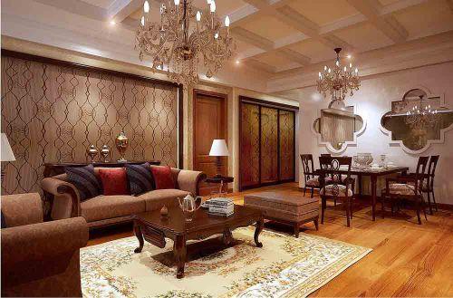 新古典华美客厅装修装饰