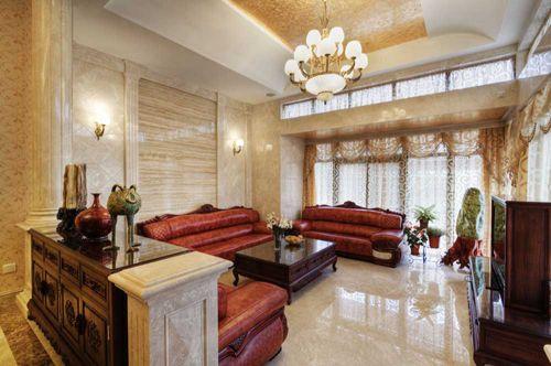 大气典雅新古典风格客厅布置图片
