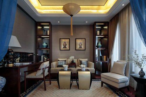 低调奢华新古典客厅设计效果图