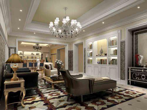 2015新古典风格典雅大气客厅设计效果图片