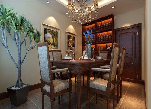 米色素雅新古典风格餐厅装修图片