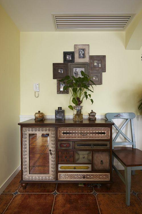 乡村自然风格收纳柜装饰设计图片