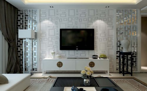 白色素净新古典风格客厅装修案例