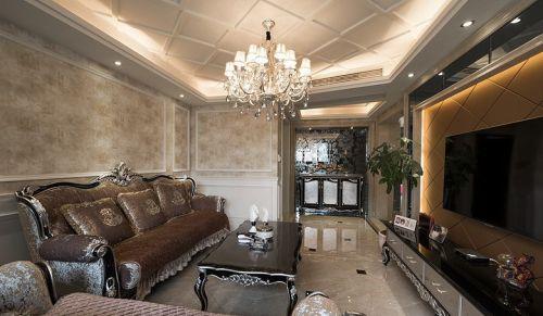 米色新古典风格客厅精致设计效果图赏析