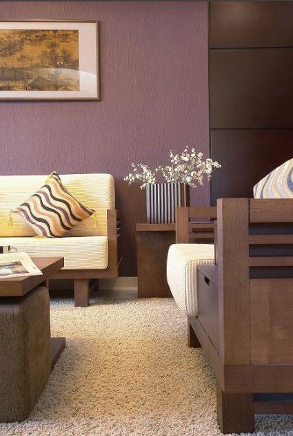 红色东南亚风格客厅效果图欣赏
