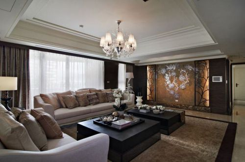 精致优雅新古典风格客厅装潢设计欣赏