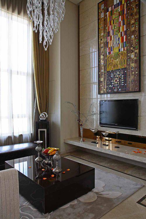 现代新古典客厅装潢