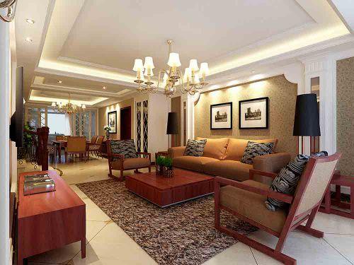 新古典华丽客厅装修装饰