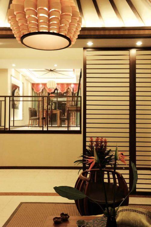 东南亚风格客厅局部装修图
