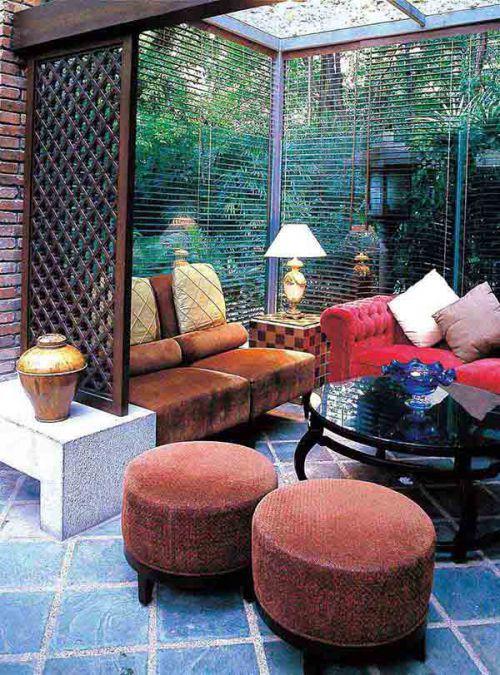 休闲时尚东南亚风格客厅布置装饰