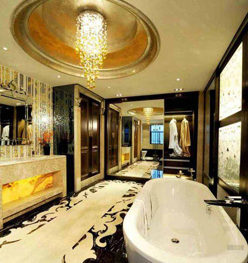 新古典别墅华美大气卫生间装潢设计