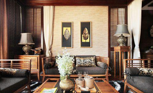雅致东南亚风格客厅效果图赏析
