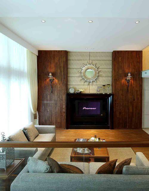 别致雅韵新古典风格客厅装潢装修