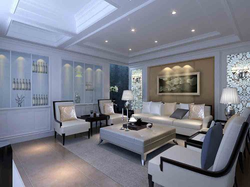 2015新古典客厅装修效果展示
