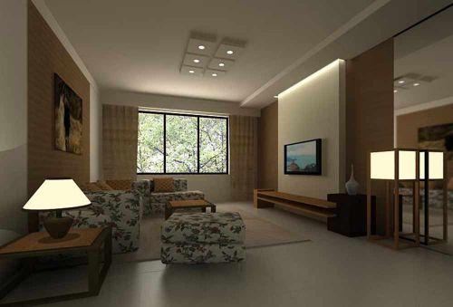 素雅温馨新古典风格客厅装修美图