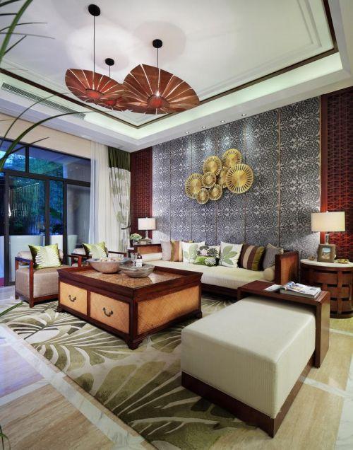 东南亚风格雅致客厅设计欣赏