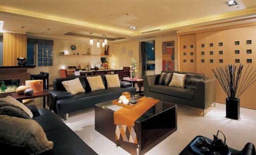 时尚东南亚混搭风格客厅效果图设计