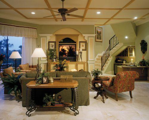 浪漫温馨唯美东南亚风格黄色客厅美图