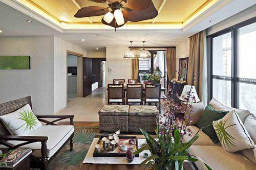 2015年东南亚客厅装修效果图