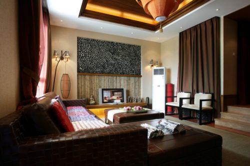 东南亚个性风格客厅装修图片