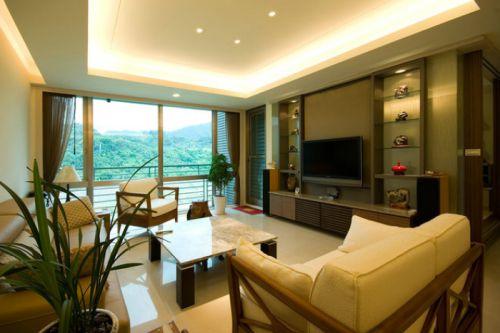 淡雅2016东南亚风格客厅装潢装饰设计图片