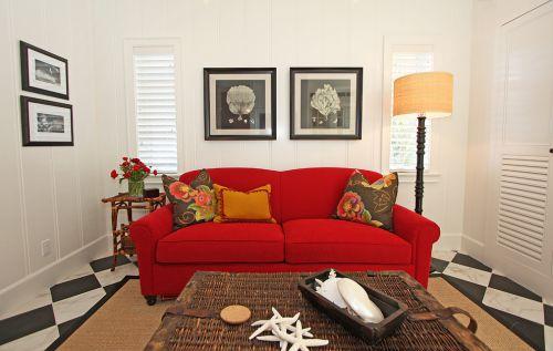 米色质感东南亚风格客厅装修设计