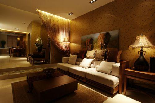 东南亚时尚客厅装修美图