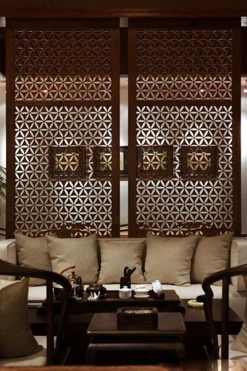 中式新古典风格客厅装修图
