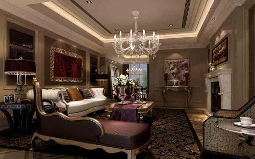新古典欧风华美客厅装修设计