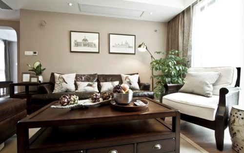 清新沉稳新古典风格客厅美图欣赏