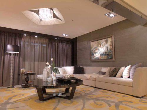 大气简约新古典风格客厅布置