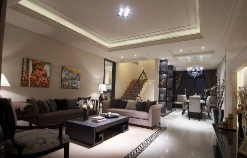 新古典白色客厅装修设计