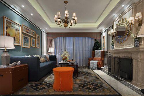 灰色新古典风格客厅设计图片
