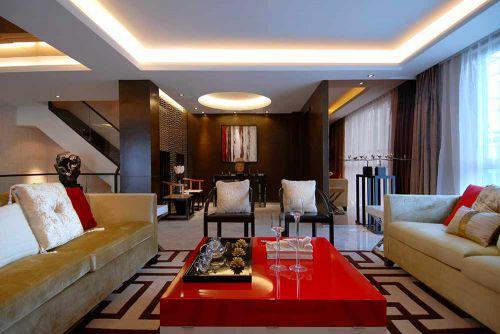 温馨大方新中式风格客厅装修案例