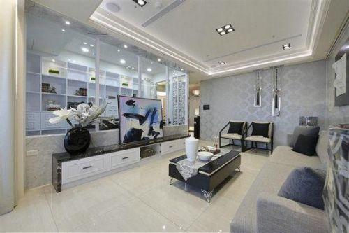 灰色雅致中式客厅装修设计