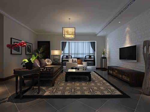 中式沉稳优雅客厅装修效果图片