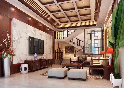中式客厅装修设计欣赏