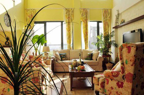 韩式田园风格精致舒适客厅布置欣赏
