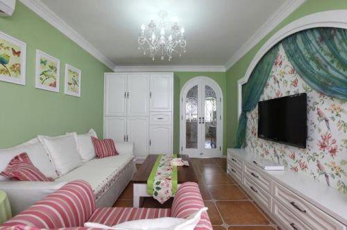 欧式田园休闲客厅设计装潢