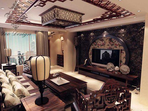 华丽精致中式风格客厅美图欣赏